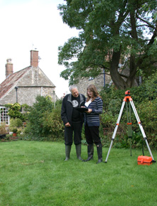 Before commencing the design Jill conducts an accurate, detailed survey of the garden space
